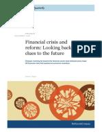 MQ - Financial Crisis and Reform