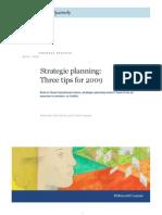 MQ - Strategic Planning - Tips for 2009