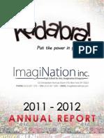Imagination Inc. 2011-2012 Annual Report