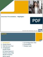 SAP CRM 7.0 UI Framework Highlights - Overview Presentationn 2011
