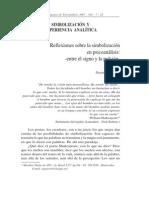 Garcia-simbolizacion y Experiencia Analitica
