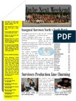 Seoul Survivors Newsletter, Volume 1, Issue 1