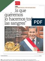 Mensaje a La Nacion 2013