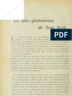 Le néo-platonisme de Jean Scot