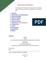 ESTRUCTURA DE LA MONOGRAFÍA - 2012