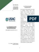 Doc. de apoyo No. 6 Comunicación intrapersonal