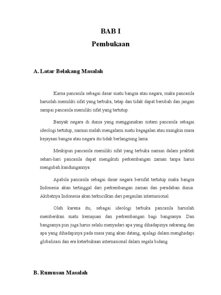 Karya Ilmiah Pancasila Sebagai Idiologi Terbuka