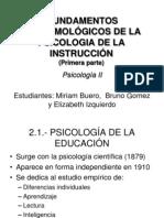 FUNDAMENTOS EPISTEMOLÓGICOS DE LA PSICOLOGIA DE LA INSTRUCCIÓN
