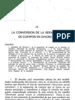 Conversión de separación de cuerpos en divorcio