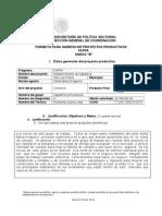 Zapateria La Novedosa Anexo b Formato Para Ingreso de Proyectos Productivos