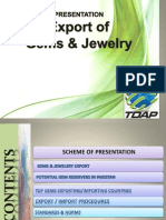 Export Procedure of Gems Jewlry