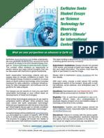 Earthzine 2013 Tech Essay Contest - Deadline Sept. 3