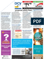 Pharmacy Daily for Wed 31 Jul 2013 - Cap Safety Fears, ANPHA Report, Aug PBS, Senior\'s Card Change and much more