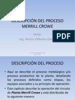 DESCRIPCIÓN DEL PROCESO MERRILL CROWE
