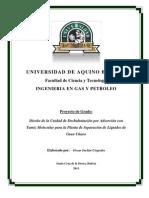 Diseño de la Unidad de Deshidratación por  Adsorción con Tamiz Molecular para la Planta de Separación de Líquidos de Gran Chaco