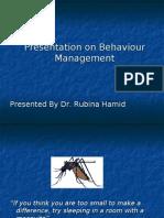 behaviour management dr