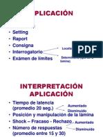 8. Aplicación y Tabulación