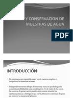 2 Toma y Conservacion de Muestras de Agua