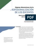 Algunas Dimensiones Profesionalizacion Docentes Representaciones Temas Agenda Politica Tenti