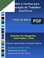 normas elaboração de trabalhos cientificos