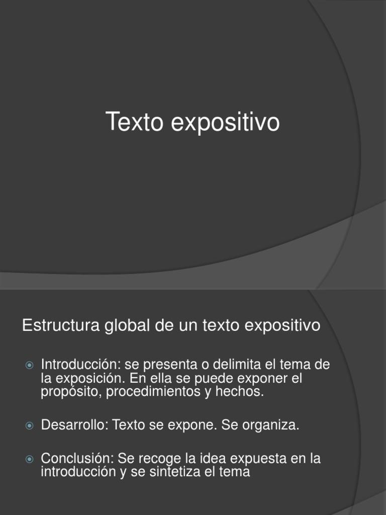 Organizacion Interna Texto Expositivo1 Ppt