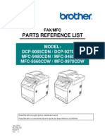 Brother MFC 9970 Parts manual