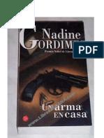 Gordimer, Nadine - Un Arma en Casa