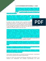 BREF HISTORIQUE DE LA PSYCHOTHÉRAPIE INSTITUTIONNELLE