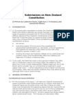 Ideas for submissions to the Constitutional Review Panel (New Zealand) 2013.