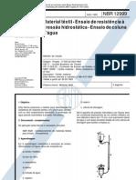 _NBR-12999 - Material Textil - Ensaio de Resistencia a Pressao Hidrostatica - Ensaio de Coluna d'A