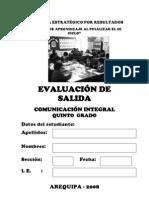 Evaluacion Salida Comunicacion Arequipa 2008