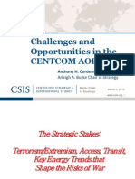2013-Mar Cordesman Centcom-Analysis Middle-east 130304 Challenges Opportunities Centcom Aor