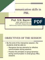 Communication Skills in PBL