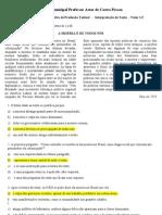 ATVD AVALIATIVA_INTERPRETAÇÃO_9 ANO_GABARITADA