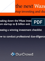 Finding the Next Waze:An insider view of startup investing and due diligence