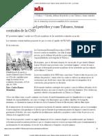 Carestía, defensa del petróleo y caso Tabasco, temas centrales de la CND - La Jornada
