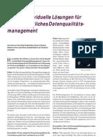 Kundenindividuelle Lösungen für ein ganzheitliches Datenqualitätsmanagement