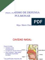 Mecanismo de Defensa Pulmonar