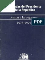 Presidente de la República, visitas a las regiones 1978-1979