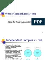 test for independent samples