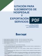 Tributacion Turismo - Para Establecimientos de Hospedaje y Exportacion de Servicios - Soto Guzman, Oswaldo J.