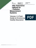 EPA Q.A  hand book for Environmental Quality Assurance