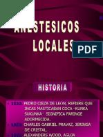 anestésicos locales
