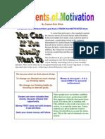 Motivation Booklet Elements