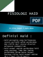 Fisiologi Haid & Gangguan Haid