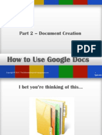 How to Use Google Docs - Part 2