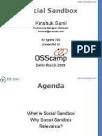 Kinshuk Presents on Social Sandbox at OSSCamp New Delhi