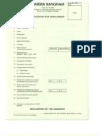 Application for Scholarship 2013-14