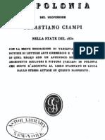 1831 CIAMPI Viaggio in Polonia Del Professore Sebastiano Ciampi