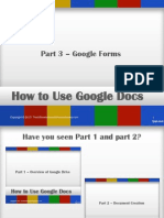 How to Use Google Docs - Part 3